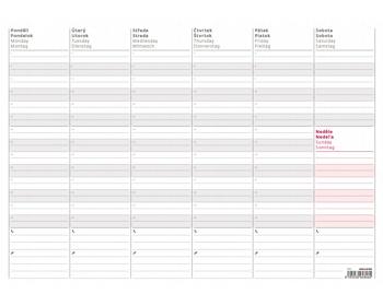 Náhled produktu Stolní plánovací týdenní mapa 2020 - A3