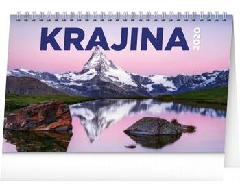 Náhled produktu Stolní kalendář Krajina 2020 - česko-slovenský
