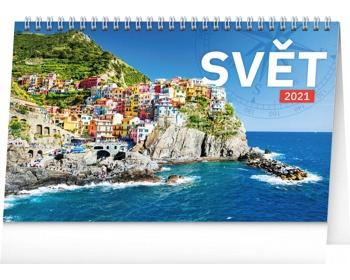 Náhled produktu Stolní kalendář Svět 2021