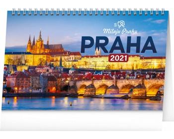 Náhled produktu Stolní kalendář Praha - Miluju Prahu 2021