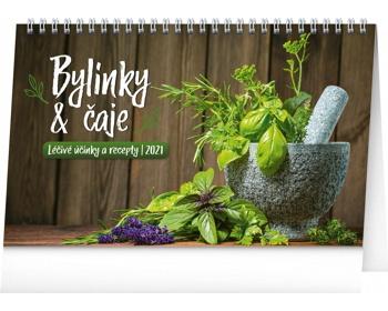 Náhled produktu Stolní kalendář Bylinky a čaje 2021