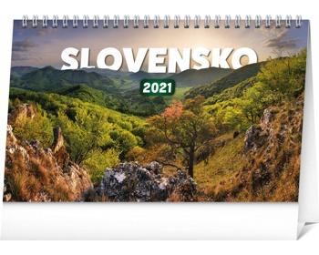 Náhled produktu Stolní kalendář Slovensko 2021 - slovenský