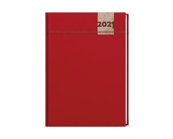 Náhled produktu Denní diář David Denim 2020, A5 - červená