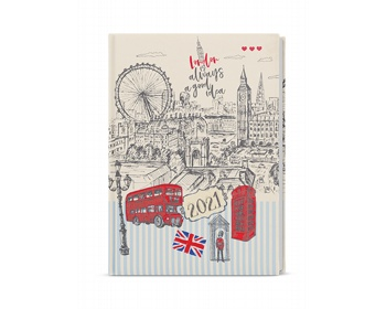 Náhled produktu Denní diář David Lamino 2021, A5 - Anglie