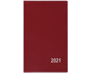 Náhled produktu Kapesní týdenní diář Alois PVC 2020, 15x9cm - bordó