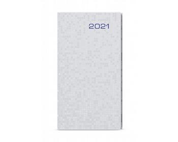 Náhled produktu Kapesní týdenní diář Jakub Saturn 2021 - stříbrná
