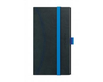 Náhled produktu Kapesní týdenní diář Jakub Nero 2020, A6 - černá / světle modrá