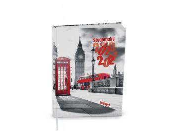Náhled produktu Týdenní diář Student V8 2021, 10x14 cm - Londýn