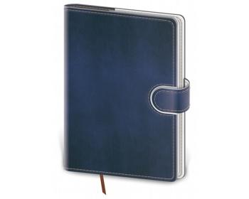 Náhled produktu Poznámkový čtverečkovaný blok Flip, A5 - modrá / bílá