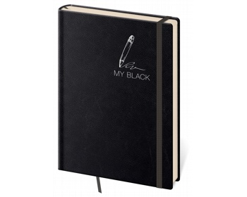 Náhled produktu Poznámkový čtverečkovaný blok My Black, 14x20cm - černá