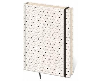 Náhled produktu Poznámkový linkovaný blok Vario, 12x16cm - design 5