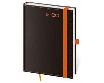 Náhled produktu Týdenní diář Black Orange 2020 s poutkem, B6 - černá / oranžová