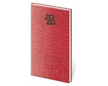 Náhled produktu Kapesní týdenní diář Carpet 2020, 8x15cm - červená