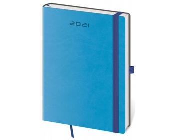 Náhled produktu Týdenní diář Flexies 2021, A5 - modrá