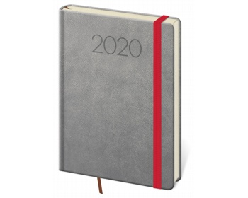 Náhled produktu Denní diář New Praga 2020, A5 - tmavě šedá