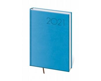 Náhled produktu Denní diář Print 2021, A5 - světle modrá