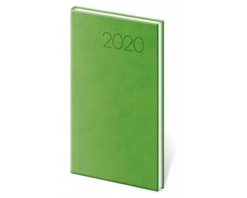 Náhled produktu Kapesní týdenní diář Print 2020, 8x15cm - světle zelená