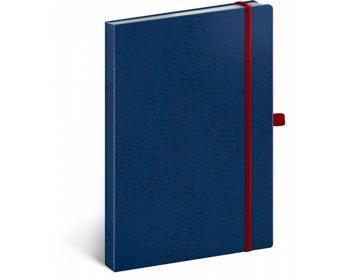 Náhled produktu Poznámkový linkovaný notes Vivella Classic, 15x21cm - modrá / červená