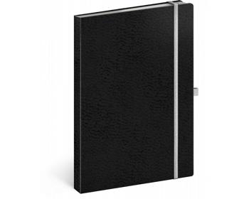 Náhled produktu Poznámkový linkovaný notes Vivella Classic, 15x21cm - černá / bílá