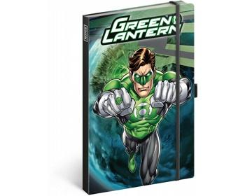 Náhled produktu Poznámkový linkovaný notes Green Lantern, 13x21cm
