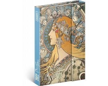 Diář model Alfons Mucha