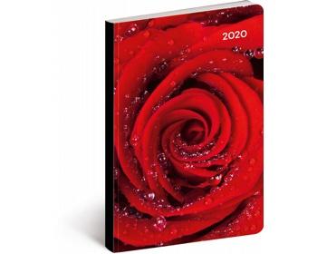 Náhled produktu Kapesní týdenní diář Růže 2020 ultralehký, 11x17cm