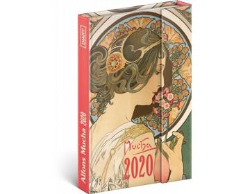 Náhled produktu Týdenní diář  Alfons Mucha 2020 - východoevropské magnetický, 11x16cm
