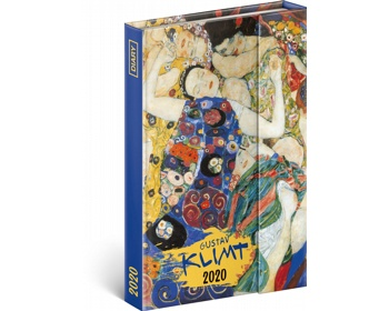 Náhled produktu Týdenní diář  Gustav Klimt 2020 - východoevropské magnetický, 11x16cm