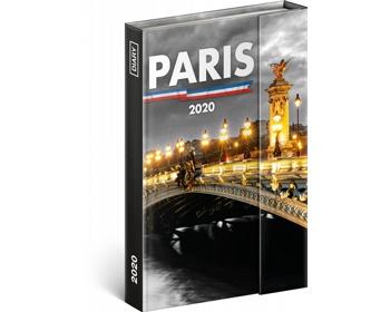 Náhled produktu Týdenní diář  Paříž 2020 - západoevropské magnetický, 11x16cm