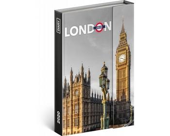 Náhled produktu Týdenní diář  Londýn 2020 - západoevropské magnetický, 11x16cm