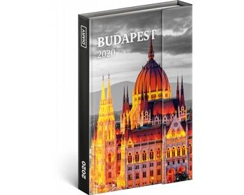 Náhled produktu Týdenní diář  Budapešť 2020 - východoevropské magnetický, 11x16cm