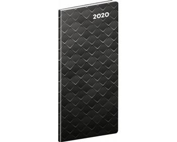 Náhled produktu Kapesní měsíční diář Černý kov 2020 plánovací, 8x18cm