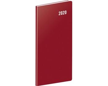 Náhled produktu Kapesní měsíční diář Vínový 2020 plánovací, 8x18cm