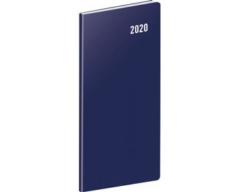 Náhled produktu Kapesní měsíční diář Modrý 2020 plánovací, 8x18cm