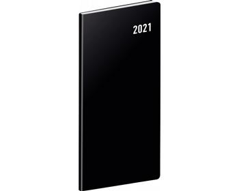 Náhled produktu Kapesní měsíční diář Černý 2021 plánovací, 8x18 cm