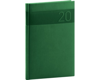 Náhled produktu Týdenní diář Aprint 2020, 15x21cm - zelená