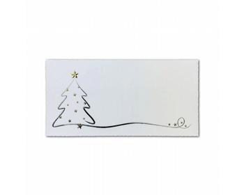 Náhled produktu Novoroční PF karta GL2128 - bílá / stříbrná / zlatá