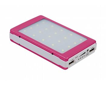 Náhled produktu Netradiční powerbanka s výkonnou LED lampou SURBY pro nabíjení až 2 zařízení současně