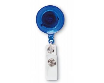 Náhled produktu Plastový držák na jmenovku STACIA s klipem - modrá