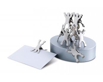 Náhled produktu Magnetické kovové svorky JIMRAM se stojánkem, 8 ks - matně stříbrná