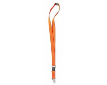 Náhled produktu Šňůrka na krk ALSO s karabinou - oranžová