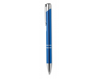 Náhled produktu Hliníkové kuličkové pero HIPS s modrou inkoustovou náplní - královská modrá
