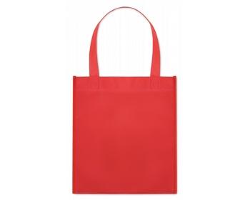 Náhled produktu Netkaná nákupní taška BLOTTED s krátkými uchy - červená