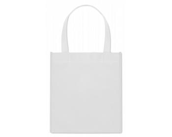 Náhled produktu Netkaná nákupní taška BLOTTED s krátkými uchy - bílá