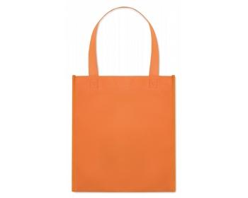 Náhled produktu Netkaná nákupní taška BLOTTED s krátkými uchy - oranžová