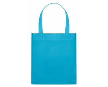 Náhled produktu Netkaná nákupní taška BLOTTED s krátkými uchy - tyrkysová