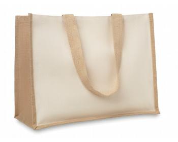 Náhled produktu Jutová nákupní taška LETHE s dlouhými uchy - béžová