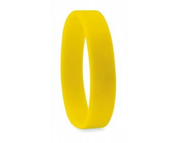 Náhled produktu Silikonový náramek SHELL - žlutá