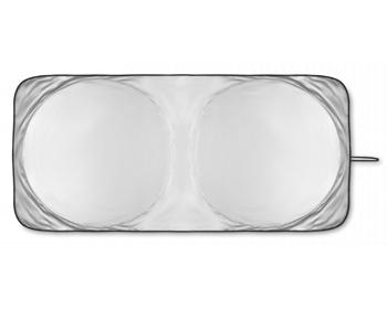 Náhled produktu Skládací sluneční clona na okna automobilu ABNER v pouzdru - matně stříbrná