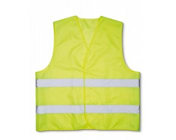 Náhled produktu Bezpečností vesta PASKAL s reflexními pásky - žlutá